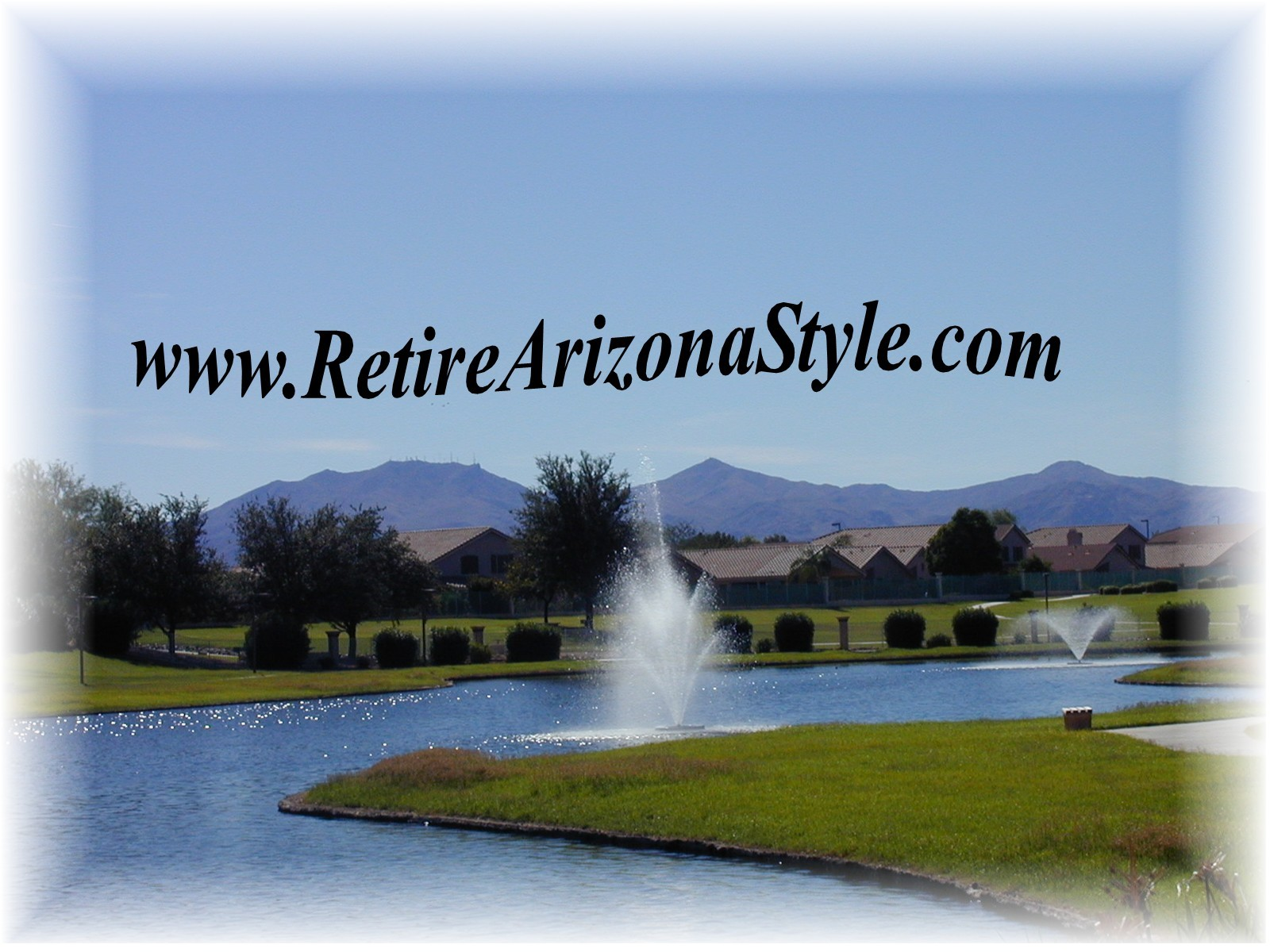 Adult communities in Surprise Arizona have stunning views of the White Tank Mountains